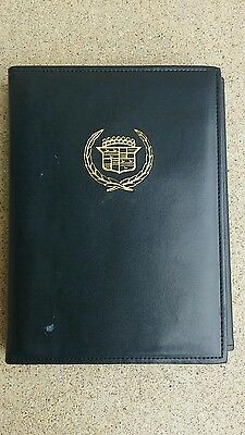 1987 Cadillac Brougham Owners Manual Maintenance Schedule with Leather Case OEM