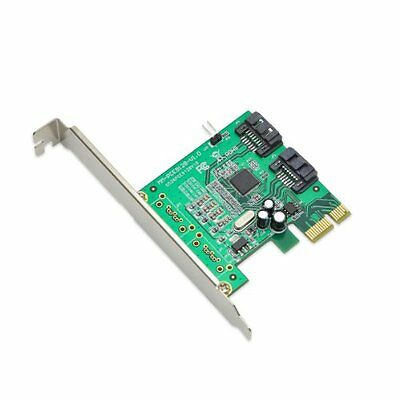 Syba 2 Port SATA III PCI-e x1 Card with Low Profile Bracket Marvell