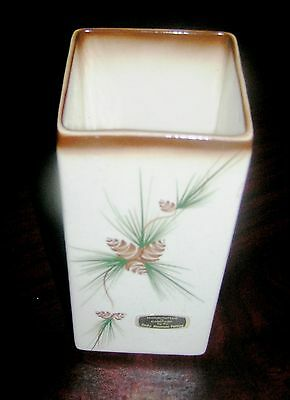 Rocky Mountain Pottery vase with Pine Swag