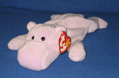 TY HAPPY the HIPPO BEANIE BABY  - MINT with MINT TAGS