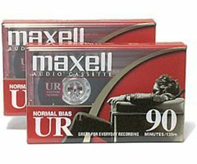Maxell Ur-90 2PK Flat Normal Bias Audio Cassettes