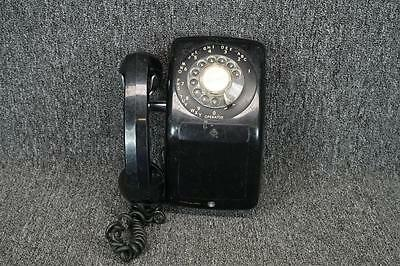 Vintage Automatic Electric Co. Rotary Wall Phone Black C. 1940'S