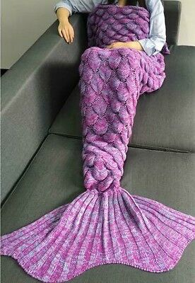 Purple Mermaid Tail Blanket - Brand New, TEEN Size, Fast Shipping Available!