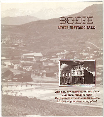1999 Bodie State Historic Park Ghost Town Souvenirs Brochure 16 pages