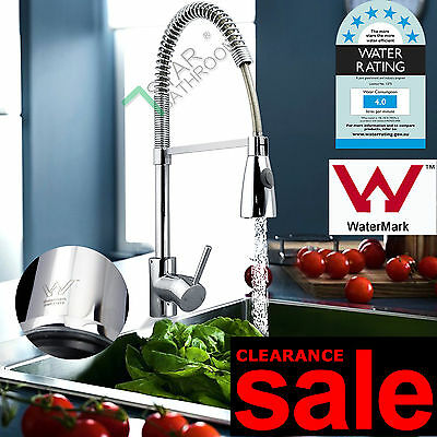 CLEARANCE Pull Out Round Gooseneck Kitchen Laudry Sink Basin Mixer Tap Faucet AU