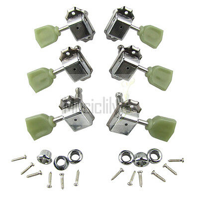 Musiclily Chrome 3L3R Guitar String Deluxe Tuners Tuning Pegs Machine Heads Set
