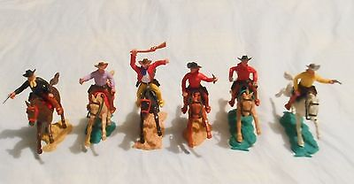 Timpo Cowboys Mounted X 6