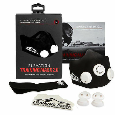 New Elevation Training Mask 2.0 High Altitude Mask Mens  Womens Fitness