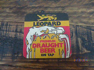 1 onlyLEOPARD Brewery New Zealand Special Issue P.W.M.C.collectable COASTER,