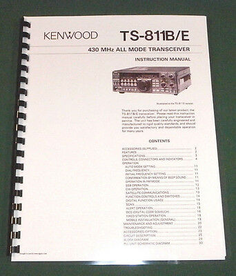 Kenwood TS-811B/E Instruction Manual - Premium Card Stock Covers & 28 LB Paper!