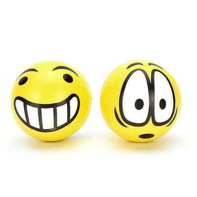 Smiley Face Anti Stress Reliever Ball ADHD Autism Mood Toy Squeeze Relief JR
