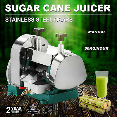 Manual Sugar Cane Ginger Press Juicer Handwheel Commercial Stainless Steel