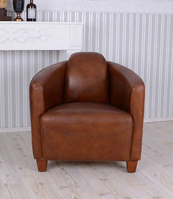 Lounge Chair Leather armchair ART DECO CLASSIC Bauhaus Club chair Designer Chair