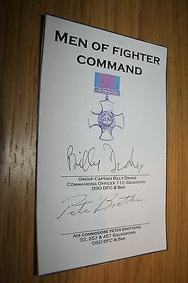 RAF Battle of Britain Signed Book Plate Brothers/Drake DSIO DFC