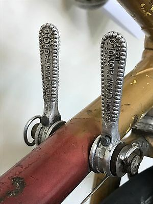 Campagnolo Nuovo Record Gear Shifters Vicenza Italy Vintage Classic