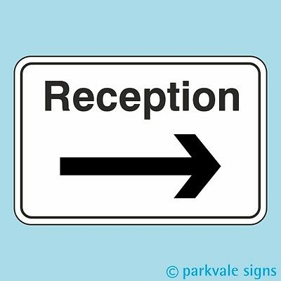 Reception Sign (Arrow Right)