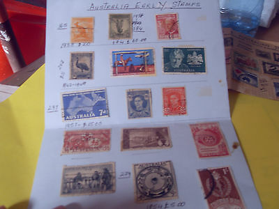 15 Old  Austraila  Early Stamps From 1938 Onwards See Description Below