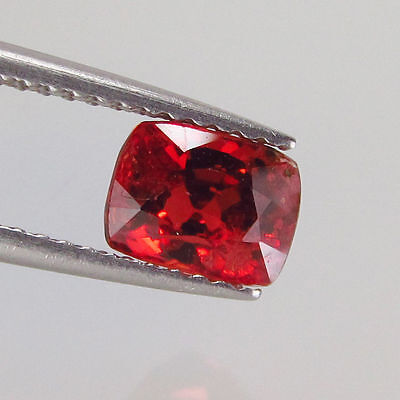 1.48 Ct - Natural Spinel - Burma - Cushion cut - Dark Orange - Unheated - VS