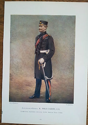 Print Lieutenant General R Pole Carew Cb 11Th Division South African Field Force