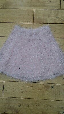 Girls New River Island Pink fully lined skirt age 11-12