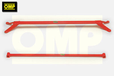 OMP FRONT & REAR UPPER STRUT BRACE VW GOLF MK1 GTi