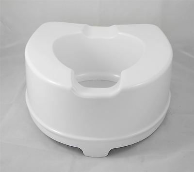 "6"" (15cm) Heavy Duty Bariatric Raised Toilet Seat up to 35 Stone disability aid"