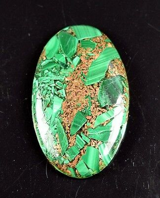 Beautiful 39.30 Cts. Natural Copper Malachite Oval Cabochon Loose Gemstones