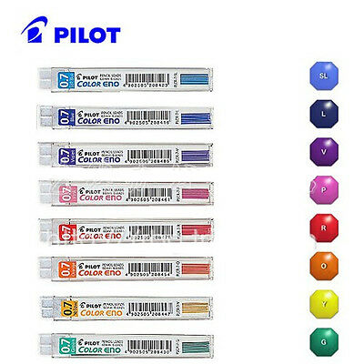 Free Shipping Pilot Eno 0.7mm Mechanical Pencil color Lead Refills 8 colors set