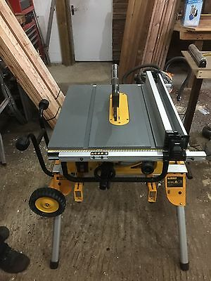 Dewalt DW745 table saw and stand