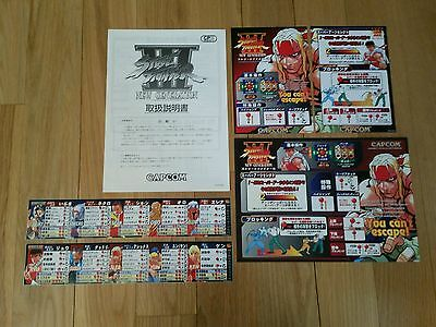 Capcom CPS3 Street Fighter III 3 Original PCB arcade flyer marquee sticker