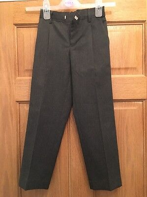 M & S Grey School Trousers Size 6-7 Years - Boys