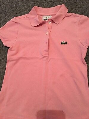 Lacoste Girls Pink Polo T-Shirt - Age 10 Years