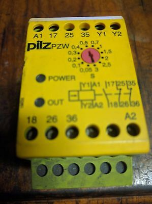 PILZ PZW 3/24VDC 1n/o 2n/c, 774042 Safety relay. Used