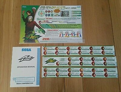 Atomiswave King of Fighters XI Snk kof Original PCB arcade flyer marquee sticker