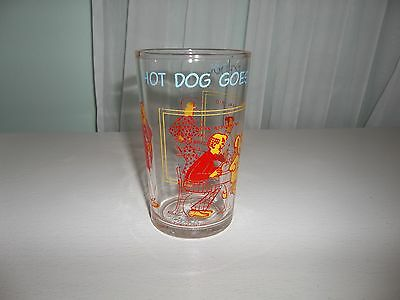 Vintage 1971 Archie Comics Hot Dog Goes To School Jelly Glass
