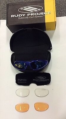 Rudy Project Graal SX Sunglasses. Metal Blue. 3 sets of lenses. Free P+P.