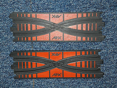 SALE- AFX Tomy CROSSOVER pair, X-overs, in excellent condition, Aurora crossover