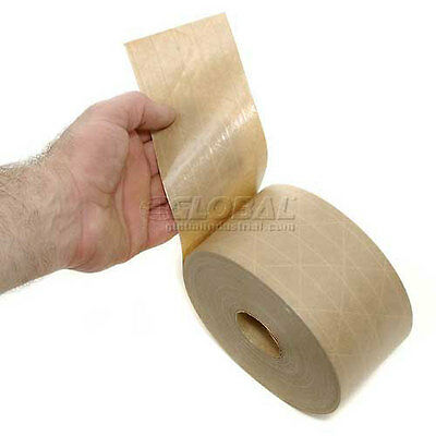 """Central Water Activated Sealing Paper Packaging Tape      1 Roll 3"""" x 600'"""
