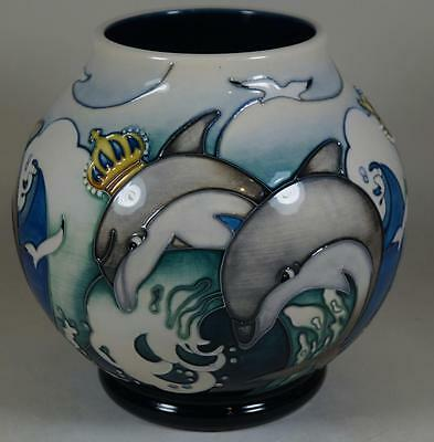 A MOORCROFT Leaping Royal Dolphins Trial Vase RM2/6 Never Put into Production