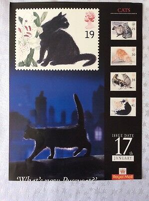 Royal Mail A4 Poster Cats