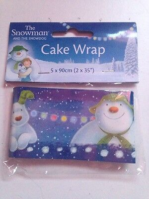 The Snowman And The Snowdog Cake Wrap Ribbon