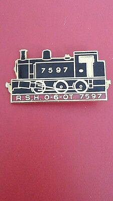 railway train steam engine - 7597 badge