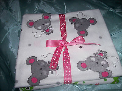 sd TWO HOMEMADE BABY SHEETS FOR CRIB, PRAM OR MOSES BASKET NEW