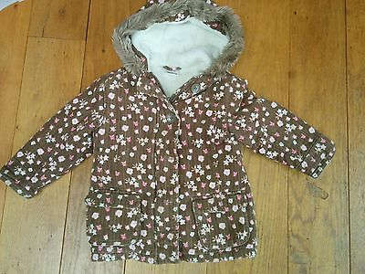 Girls Ladybird Cord Coat 2-3Y