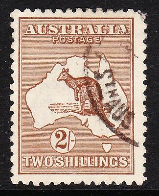 Australia 1915-27 2/- Brown Die Ii Sg 41 Fine Used.