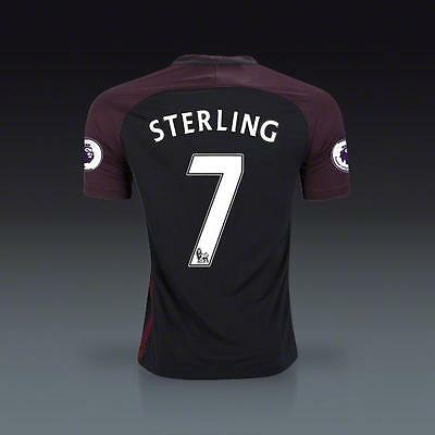 Manchester City Away jersey STERLING 7 for size Medium