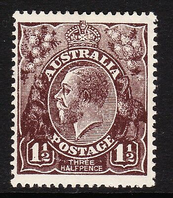 AUSTRALIA 1918-20 1½d BLACK-BROWN SG 51 MINT.