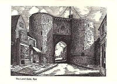 Rye - East Sussex - The Land Gate - Postcard