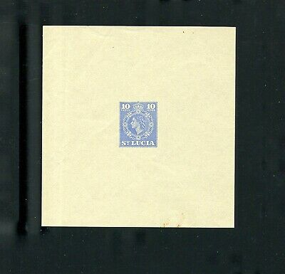 St Lucia Aerogramme Die Proof Queen Elizabeth 1955 Air Letter