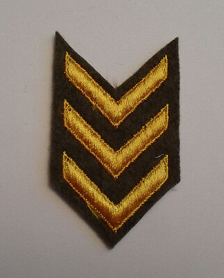 Wwi Gold Emb On Brown Wool Overseas And Wound Chevrons  (3) 1930's/40/s Use